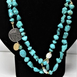 Chico's Isabella Single Strand turquoise necklace
